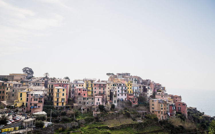Cinque Terre Dorf Italia Italien Alt Architecture Building Exterior Built Structure City Cityscape Clear Sky Color Colorful Day Farbenfroh Italy Küste No People Old Outdoors Sky Tourism Town Stories From The City #urbanana: The Urban Playground