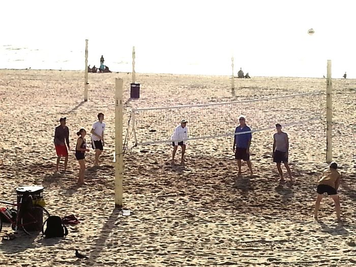 Traditional Christmas eve volleyball game