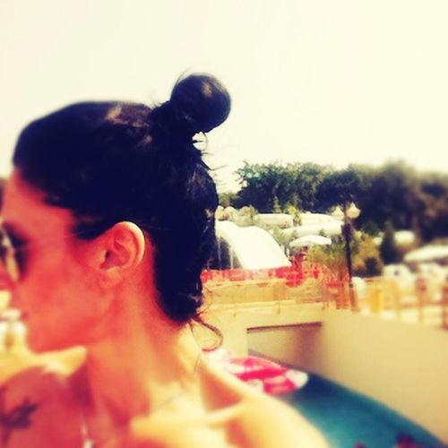 Hello World That's Me Enjoying Life Relaxing Sea Akvapark