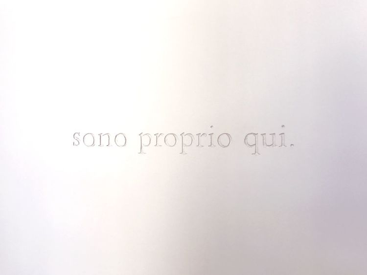 Sono proprio qui / I'm right here MART Rovereto Communication No People White Background Museum Exhibition Wall Writing On The Walls Art Museum Tell A Story Lifestyles The Week On EyeEm Black And White Friday