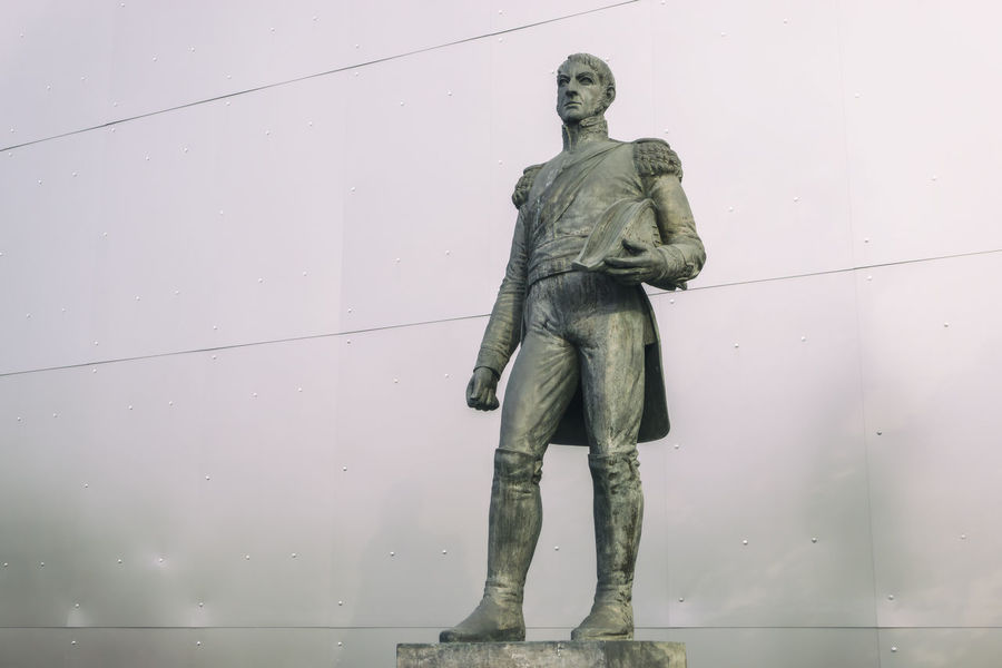 Statue of Jose de San Martin at the Latin-American Institute in Berlin, Germany Adult Adults Only Day Full Length Human Role Jose De San Martin Latin-American Institute Military One Person Outdoors People Period Costume Revolution Revolutionary Standing Warrior - Person