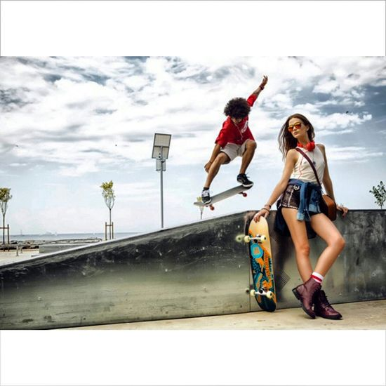Skateboarding Elle Magazine
