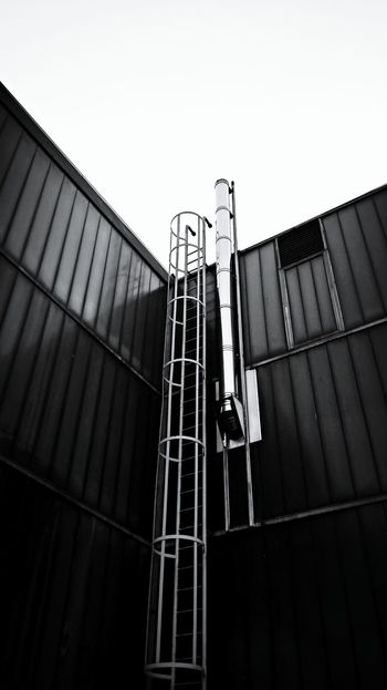 Blackandwhite Sky House Windows On A Walk Light And Shadow Building Ladder Ladder