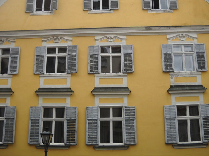 Architecture Austria Building Exterior Built Structure Day Façade Graz Low Angle View No People Outdoors Steiermark Summer 2016 Windows Yellow