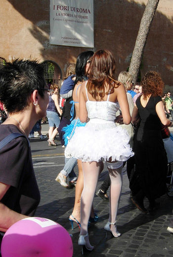 Photography In Motion Gaypride Tg Lingerie Heels Spring In Rome Urban Spring Fever