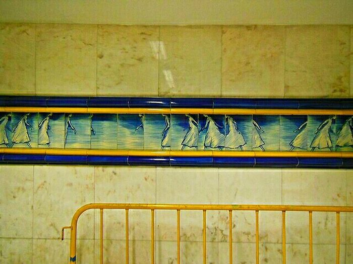 Stand Out From The Crowd EyeEmlisboa EyeEm Portugal Subway Rossio Color Tiles Portuguese Tiles