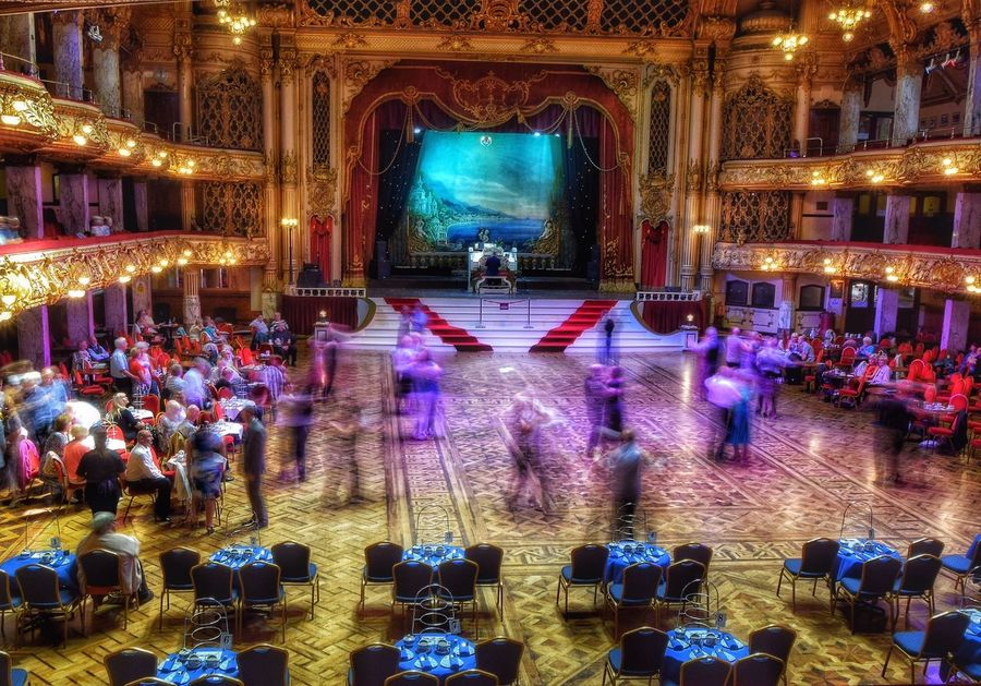 My first visit to one of the most famous ballrooms in the world. Blackpool Tower Ballroom (don't worry, I wasn't dancing), what a wonderful setting, beautiful building. So I wanted to take a picture that conveyed the movement of the dancing, hence the blurred figures, but no tripod with me, so just did my best. Taking Photos Happy Weekend !!! Malephotographerofthemonth Photography Is My Escape From Reality! Ballroom Scene Ballroom Blackpool Blackpool Tower Movement Blurred Motion Showcase June Music Brings Us Together Capturing Motion