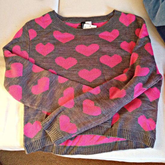 yeay nieuw truitje. Shopping Hearts Pink Love