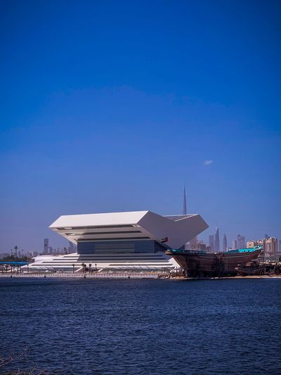 Architecture Sky Built Structure Building Exterior Water Blue Waterfront City Clear Sky No People Day Sea Building
