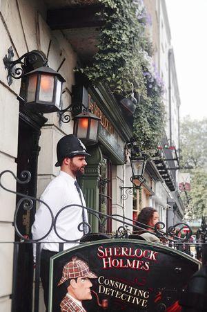 Sherlock Holmes Museum, Baker Street Architecture Bakerstreet Built Structure Day London Man Museum Outdoors People Person Sherlock Tourism Tourist Attraction  Travel Uniform