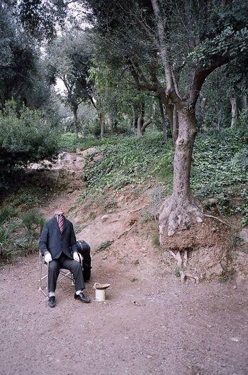 Kodak Portra Barcelona Parc Guell Horror