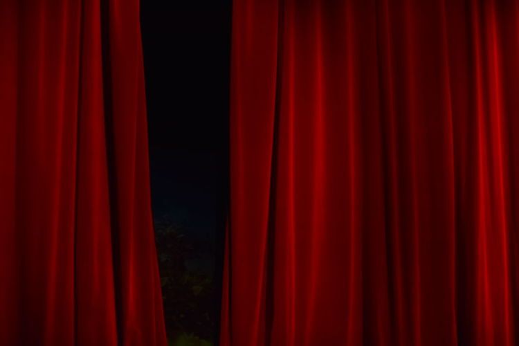 Close-up Of Red Curtain