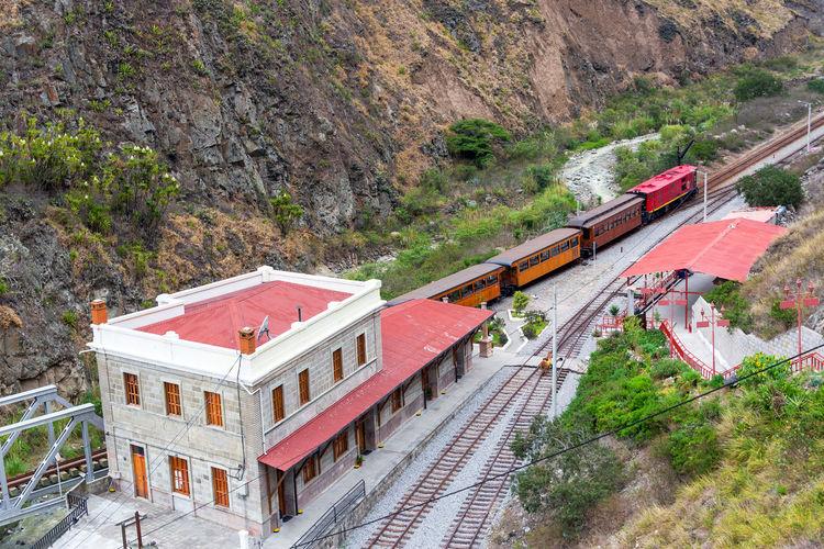 Alausi Andes Ecuador Infrastructure Locomotive Mountain Rail Railroad Railway Riobamba South America Station Track Train Train Station Train Tracks Trains