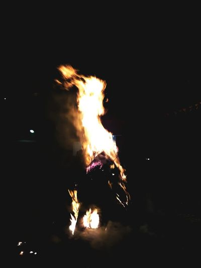 Flame Burning Night Arts Culture And Entertainment No People Celebration Firework - Man Made Object Outdoors Sparkler Firework Display AWESOME!!  Holikadahan Holikaholika Holi Festival Of Colours Holi 2017 Indoors  Performance AWESOME!!
