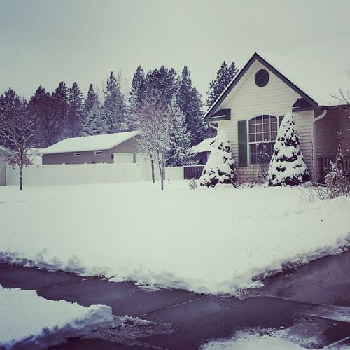 Snowblowing done. Time to get to work and hit the gym MakeItHappen Winter Snowstorm Northwest