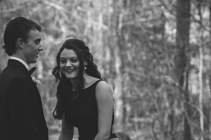 Blackandwhite Prom Two People Togetherness Young Adult Real People Lifestyles Young Women Love Couple - Relationship Leisure Activity Women Emotion Bonding Happiness Young Men Smiling Heterosexual Couple Positive Emotion People