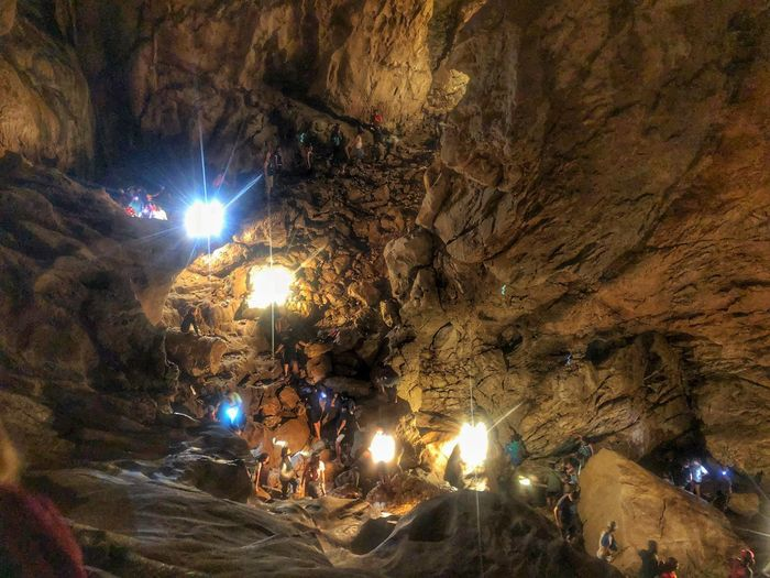 Cave Connection adventure EyeEmNewHere Philippines Sagada Adventure Lumiang Cave Explore Discover  Adventure Spelunkers Spelunking Cave Illuminated Outdoors Men People Nature