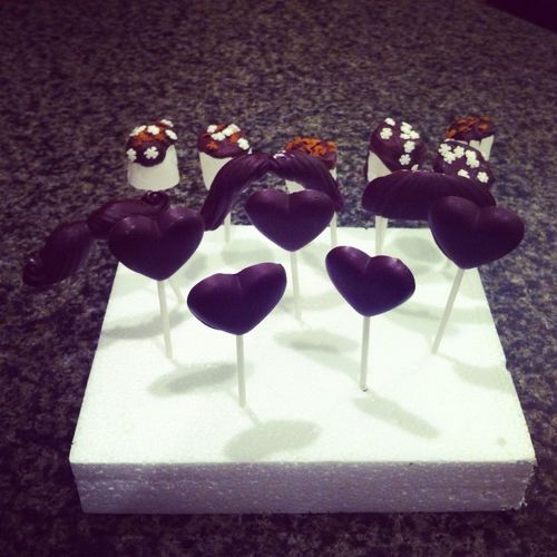 Mellowsticks, mustache lollipops&heart lollipops ($1)
