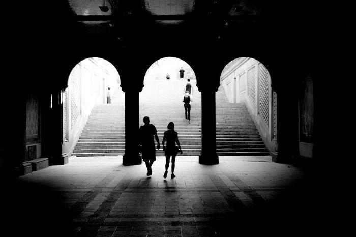 Bethesda Terrace Architecture Bethesda Terrace Black & White Blackandwhite Central Park Eye4photography  EyeEm Best Shots Famous Place Monochrome New York New York City Street Streetphoto_bw Streetphotography Travel
