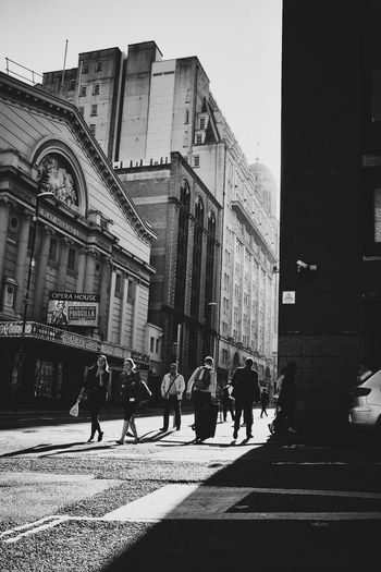Sun in the city Creative Light And Shadow Blackandwhite Manchester Contrast Rush Hour Citylife Good Mornjng