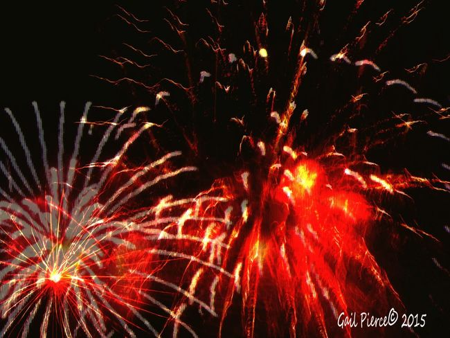 July 4th. Fireworks From My Point Of View Blended Images, Digital Expression, Holiday Joy,