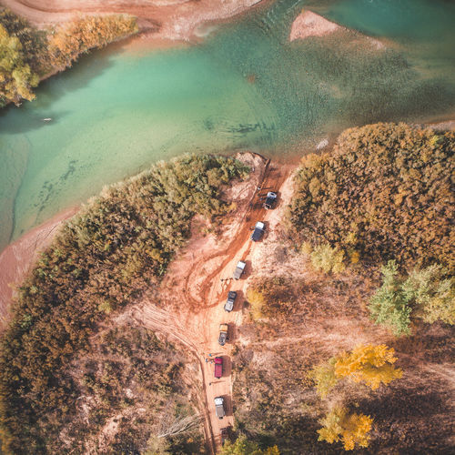 River Crossing Transportation High Angle View Road Plant Scenics - Nature Mode Of Transportation Beauty In Nature Land Nature Land Vehicle Aerial View Day Landscape Tranquil Scene Environment Tranquility Tree Water Growth Motor Vehicle Outdoors No People