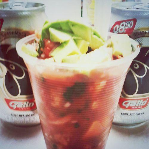 I ❤ Beer Galllo Guatemala Cevicheguatemalteco lo más rico de la costa!!! ñom