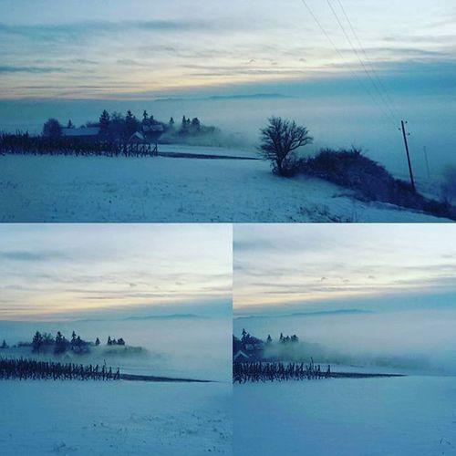 Fog Winter Snow Wilage i cjelo selo nestane u par minuta ;)