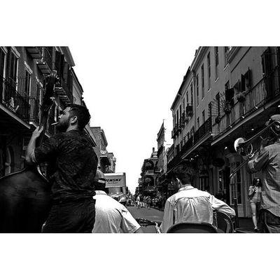 The Band Plays Neworleans NOLA Thisisneworleans Louisiana thedeepsouth music streetperformer streetportrait streetphotography oldtimey frenchquarter blackandwhite bnw monochrome 35mm canon photooftheday travel yearoftravel