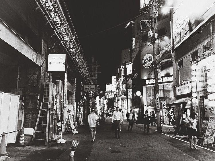 Tokyo Night Monochrome Blackandwhite Japan Ordinary Day