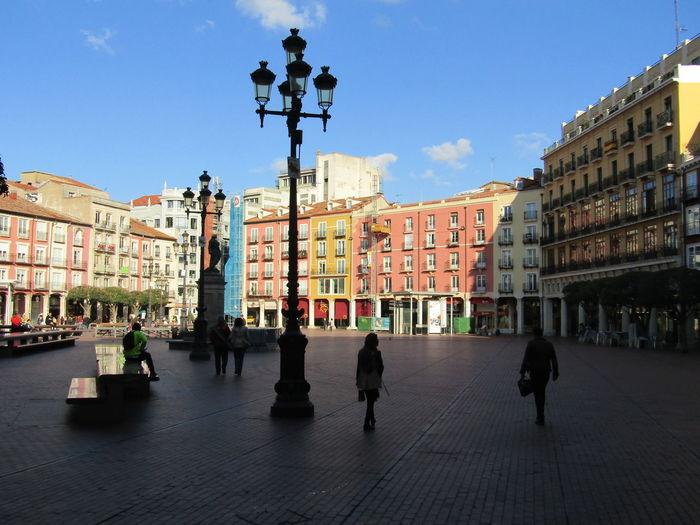 Summer Sommer Stadt Sidewalk Sunlight Travel Destinations Tourist Schatten Pavement Shadow Gehsteig Pilgrimage Burgos SPAIN Spanien City Platz Place