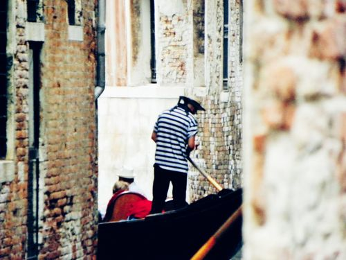 One Person One Man Only Outdoors Standing Men Gondolieri Sailor Venice, Italy Gondola Tourism Tourist Attraction  Holydays Vacations