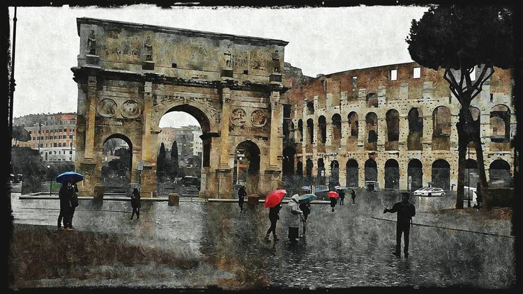 Aroundtheworld Taking Photos Hanging Out Enjoying The View ArtInMyLife Editoftheday Raining EyeEm Best Edits The Colosseum, Rome Arco Di Costantino