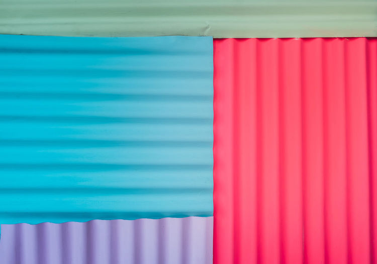 Close-up Corrugated Iron Day Indoors  Multi Colored No People Pink Color Red