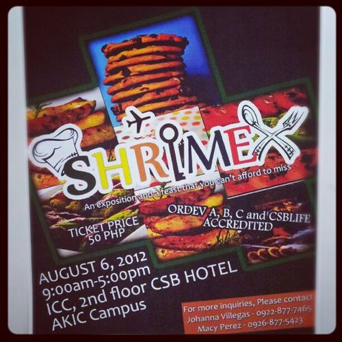 I'll be here! :) Shrimex Convmgt Msvalerio Akic shrim dlscsb csb foodphotography