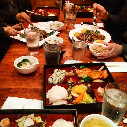 Japanese food with the Dozo chorus squad 😎 We had 15 minutes to eat it all cause our performance was about to begin in 20 mins Japanesefood Chorusconcert Goodday NYC Foodporn