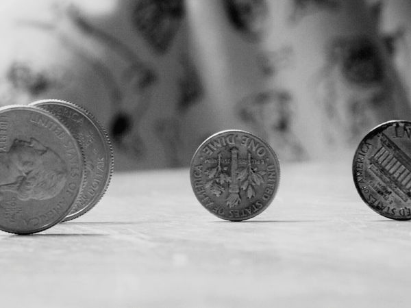 Coin Close-up Currency No People Table Macro Macro Photography Majic Black & White Black And White The Week On EyeEm Focus On Foreground