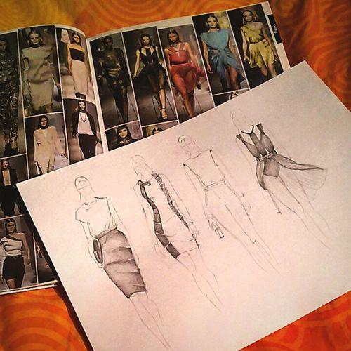 Sketching Sketches Lanvin Ss12 Spring Summer Drawing Alber Elbaz
