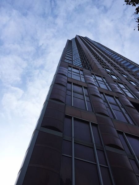 Low Angle View Building Exterior Sky Architecture Built Structure Cloud - Sky Outdoors City Skyscraper Modern Perspective No People House Frankfurt Germany View Architecture Showcase November Lookingup Tall Day Messetowerfrankfurt Messeturm Minimalist Architecture The Architect - 2017 EyeEm Awards