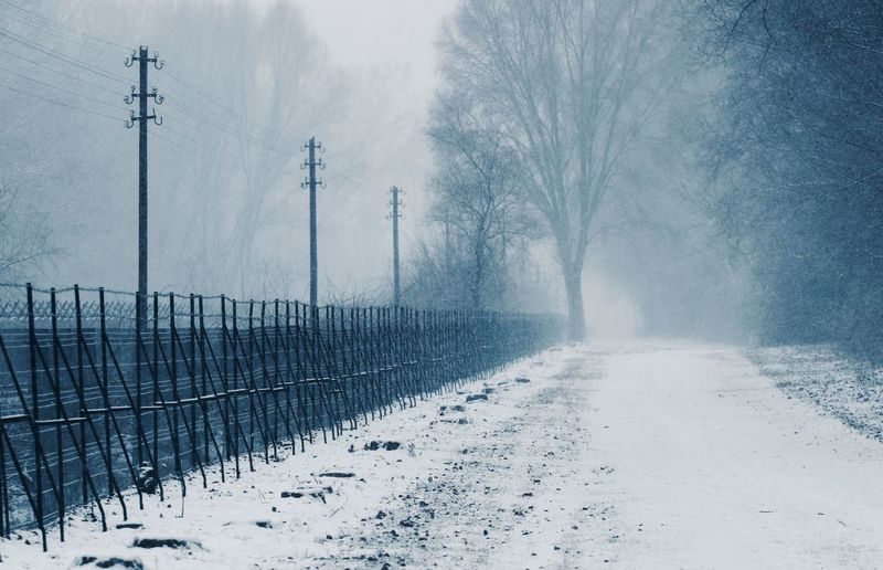 Cold Temperature Winter Snow Nature Extreme Weather Snowing Boundary Fence Snow Covered Wintertime Winter Wonderland Borderline Low Visibility Nature_collection Naturelovers Hungary Electricity Pylon