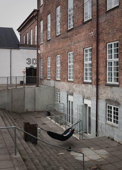 Fatigue  3D - Sleeping In Public Urban Geometry Hammock Århus, Denmark Architecture IPhone SE
