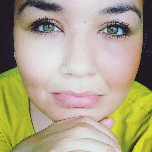 Green Eyes Single Greenlandic Girl Happy