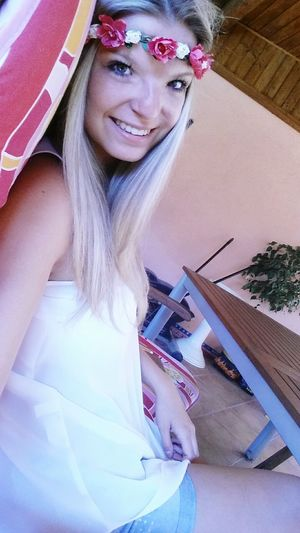Czechgirl Blonde Girl Beautiful Happy Smile Girl Photo Me Myself Home Sweet Home Beauty