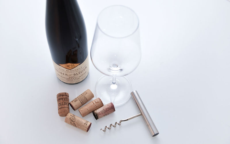 Alcohol Bottle Close-up Cork - Stopper Day High Angle View Indoors  No People Still Life Studio Shot Table White Background Wine Wine Cork