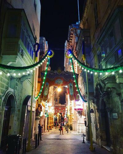 Valletta by night Valletta,Malta