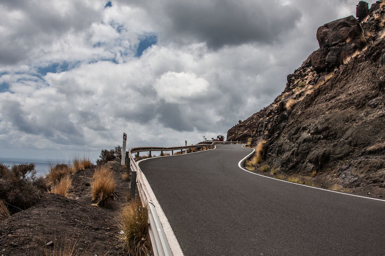 Fuerteventura Beauty In Nature Cloud - Sky Day Kanarische Inseln Mountain Mountain Road Nature No People Outdoors Road Scenics Sky The Way Forward Transportation