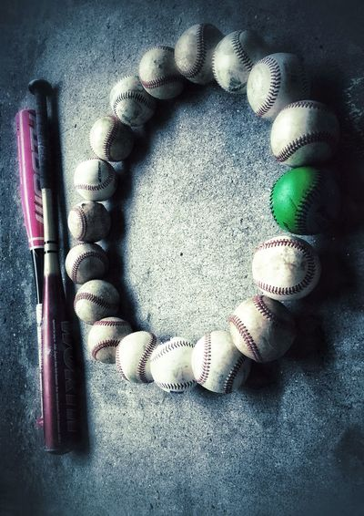 ✨⚾️ 🔟⚾️✨ Baseball IPhoneography Tadaa Community Indoors  Still Life Close-up No People High Angle View Art And Craft 10 Creativity Vignette