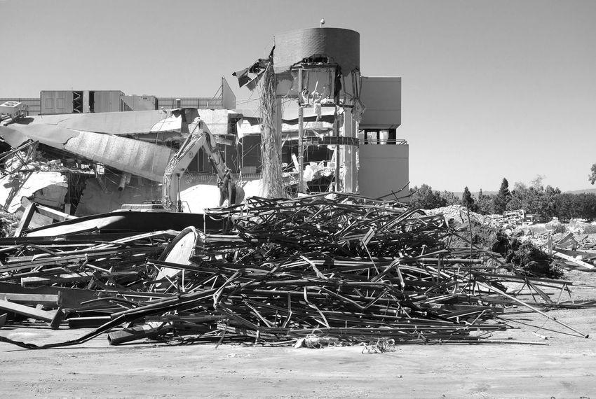 Demolition Zone Demolition Demolished Office Building Empty Building Monochrome Blackandwhite Demolition Zone