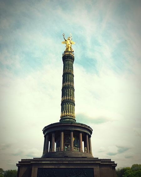 Angel Monument Square Tower Historic History Architecture Urban Germany Berlin Victorycolumn Mitte