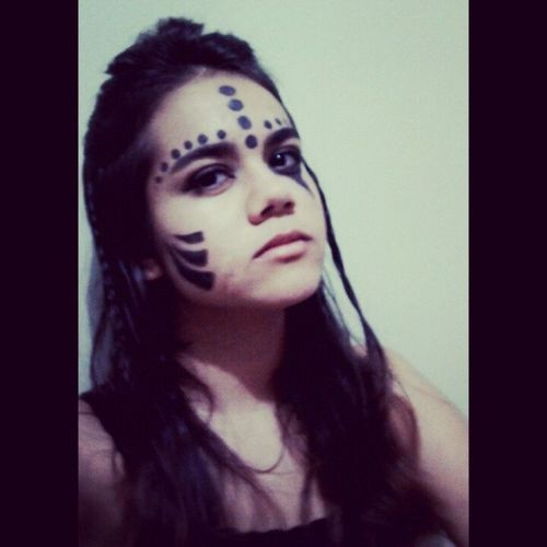 Instgirl Faceart Paint Makeupartistic indian love photoofday